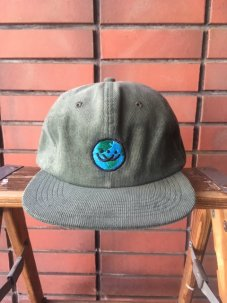 Doubles ltd Earth Logo 6 Panel Corduroy Snapback - Olive