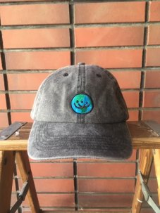 Doubles ltd Earth Logo Twill 6 Panel - Washed Garment Dye Faded
