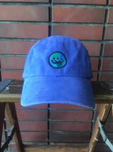 Doubles ltd Earth Logo Twill 6 Panel - Washed Garment Dye Royal