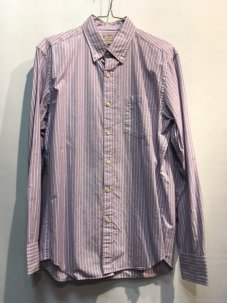 J.Crew Washed Shirt in end-on-end Stripe シャツ Sサイズ GRAPE
