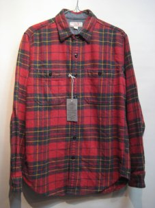 WALLACE & BARNES FLANNEL SHIRTS Sサイズ レッド