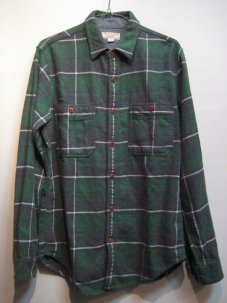 WALLACE & BARNES FLANNEL SHIRTS Sサイズ グリーン