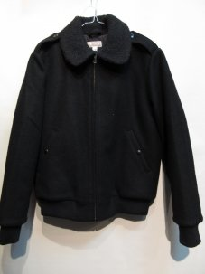 WALLACE & BARNES BOA WOOL JACKET Sサイズ ブラック