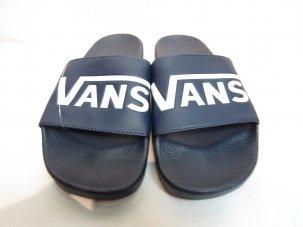 VANS バンズ SLIDE-ON スリッパ— ネイビー