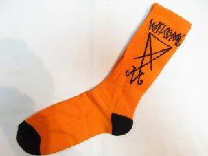 WELCOME SKATEBOARDS ウェルカムスケードボード Lui Lui Socks オレンジ