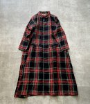 ichi Antiquités Linen Tartan Shirt Dress / BLACK