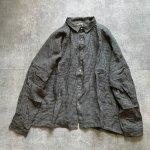 ichi Antiquites AZUMADAKI Linen Gingham Shirt