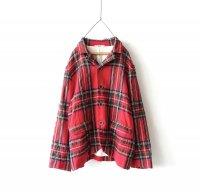 ichiAntiquites ウールタータンジャケット/ RED