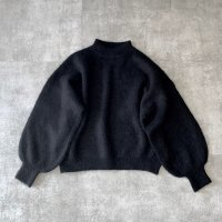 ichiAntiquites アルパカシャギープルオーバー(ブラック)