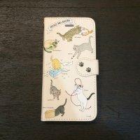 イラストレーター・梶原美穂×王冠印雑貨店コラボiPhoneケース<猫の遊び>iPhone6s,7s,8s共通(受注生産)