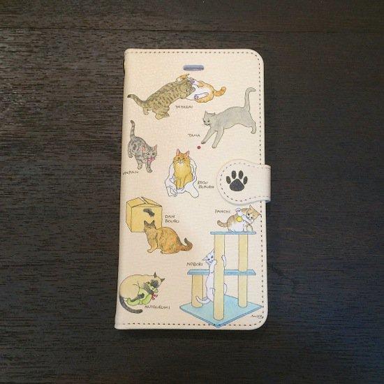イラストレーター・梶原美穂×王冠印雑貨店コラボiPhone6plusケース<猫の遊び>