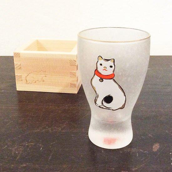 歌川国芳 江戸猫グラス 枡酒グラス(お座り猫)
