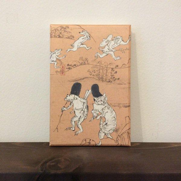 御朱印帳/鳥獣人物戯画(猫)