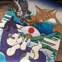 【実録猫】ハーフてぬぐい 猫託