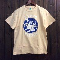 【悪意1000%】Tシャツ ティッシュねこ(ナチュラル)