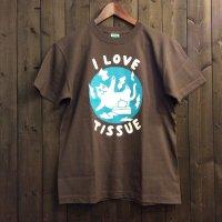 【悪意1000%】Tシャツ ティッシュねこ(チャコール)