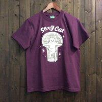 【悪意1000%】Tシャツ セクシーキャット(パープル)