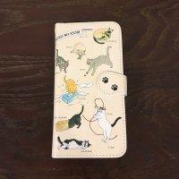 イラストレーター・梶原美穂×王冠印雑貨店コラボiPhoneケース<猫の遊び>iPhoneX,XS共通