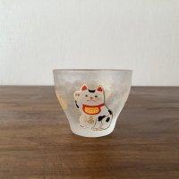 ガラス盃 招き猫
