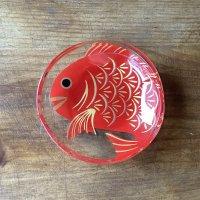 ガラス豆皿 鯛