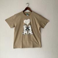 【悪意1000%】新作!Tシャツ ギブ&テイク(ベージュ)