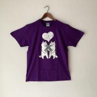 【悪意1000%】新作!Tシャツ ギブ&テイク(パープル)