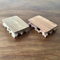 木製台座 白系