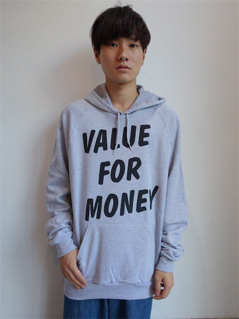 A'N'D-VALUE FOR MONEY HOODED SWEAT/GREY<img class='new_mark_img2' src='//img.shop-pro.jp/img/new/icons10.gif' style='border:none;display:inline;margin:0px;padding:0px;width:auto;' />