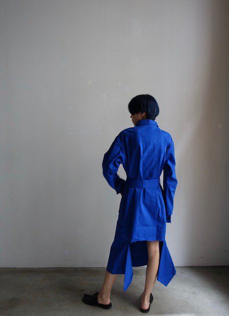 YULIA YEFIMTCHUK-BLUE SHIRT DRESS<img class='new_mark_img2' src='//img.shop-pro.jp/img/new/icons20.gif' style='border:none;display:inline;margin:0px;padding:0px;width:auto;' />