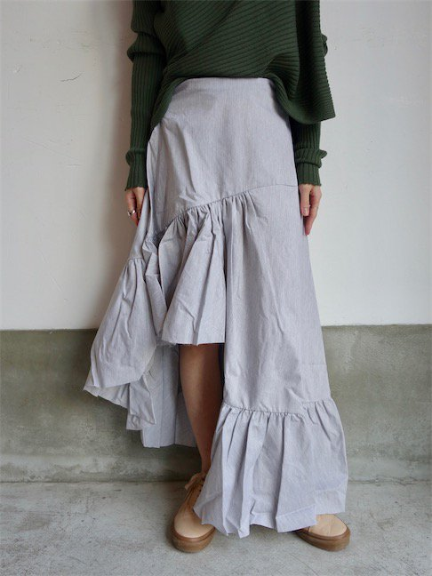 MARQUES ALMEIDA-LONG ASYMMETRIC FRILL SKIRT<img class='new_mark_img2' src='//img.shop-pro.jp/img/new/icons10.gif' style='border:none;display:inline;margin:0px;padding:0px;width:auto;' />