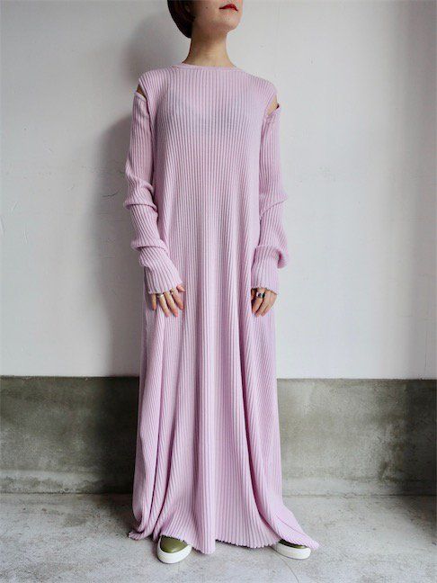 MARQUES ALMEIDA-LONG DRESS SHOULDER CUT OUT/PINK<img class='new_mark_img2' src='//img.shop-pro.jp/img/new/icons10.gif' style='border:none;display:inline;margin:0px;padding:0px;width:auto;' />