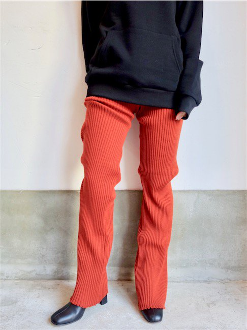 MARQUES ALMEIDA-KNIT TROUSERS/RED<img class='new_mark_img2' src='//img.shop-pro.jp/img/new/icons20.gif' style='border:none;display:inline;margin:0px;padding:0px;width:auto;' />