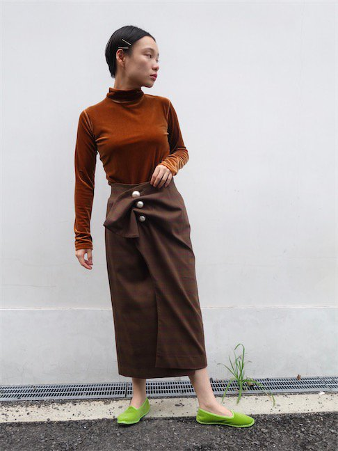KIMHEKIM-VENUS SKIRT/BROWN<img class='new_mark_img2' src='//img.shop-pro.jp/img/new/icons10.gif' style='border:none;display:inline;margin:0px;padding:0px;width:auto;' />