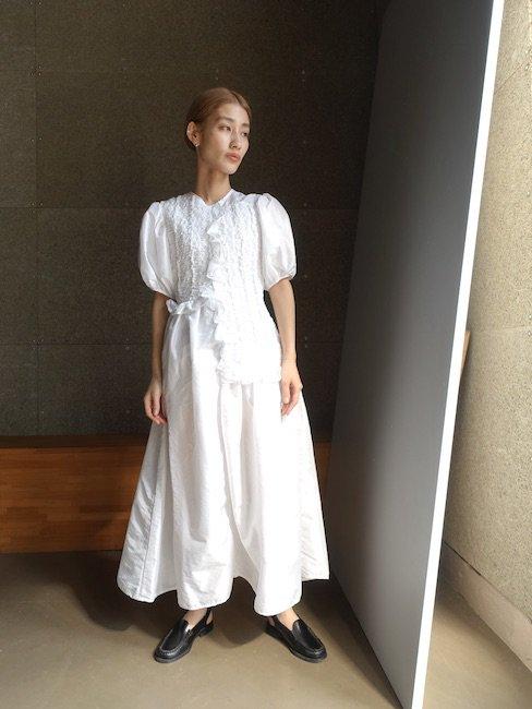 CECILIE BAHNSEN-CAMDEN DRESS/WHITE
