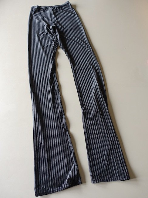 SIMONE WILD-RIB VELVET FLAIR PANTS/BLACK