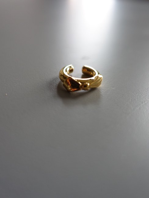 MELLOW-RIBBON EAR CUFF/GOLD