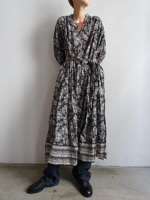 NE QUITTEZ PAS-ETHNIC PRINT FRONT OPEN DRESS