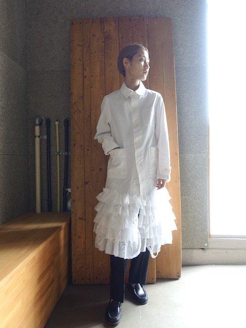 HANA YAGI-WORK SHIRT DRESS