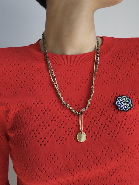 D'HEYGERE-BRAIDED NECKLACE / GOLD