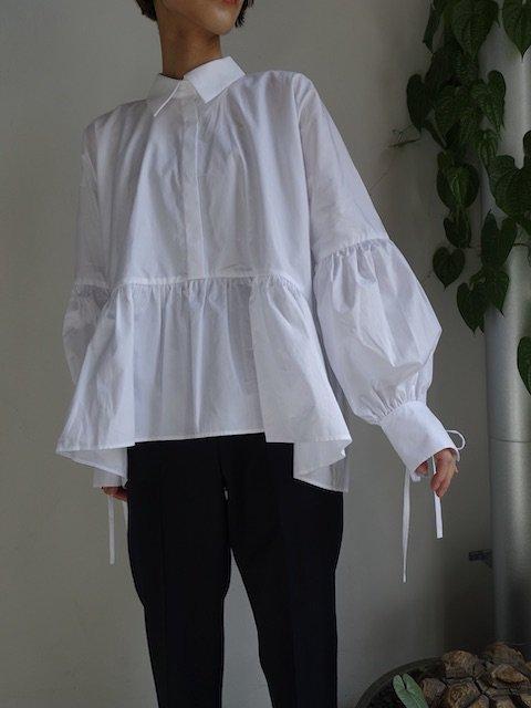 CECILIE BAHNSEN-ANDREA SHIRT / WHITE