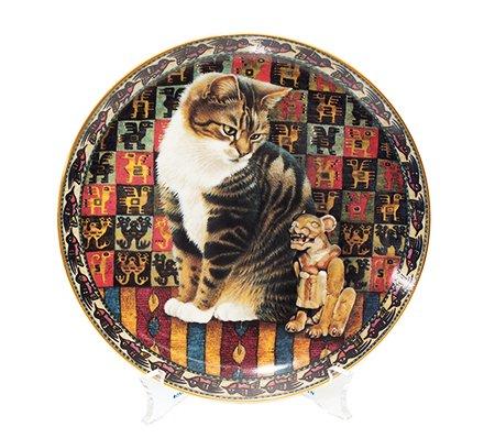 繝繝ウ繝舌Μ繝シ繝溘Φ繝Danbury mint Cats Around the World 繝壹Ν繝シ/Peru 繧ュ繝」繝ヨ繝励Ξ繝シ繝