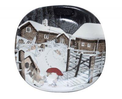 【今だけ価格】Guldkroken Harald Wiberg トムテとイヌ クリスマスプレート 1992年の写真