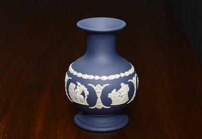 ◇ウェッジウッド/WEDGWOOD ジャスパー/Jasper ポートランドブルー/Portland Blue ギリシャ神話 フラワーベース(花瓶)の写真No.2