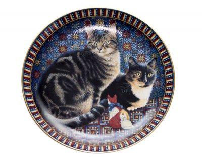 ◇ダンバリーミント/Danbury mint Cats Around the World アメリカ/America キャットプレート