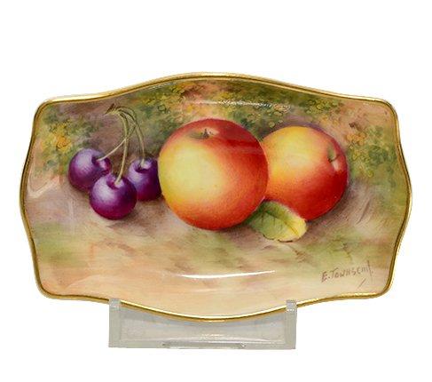 【送料無料】【レア】ロイヤルウースター/Royal Worcester ペインテッドフルーツ/Painted Fruits 変形ディッシュ 10…