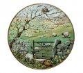 フランクリンミント/Franklin Mint ピーター・バレット/Peter Barrett マンスリープレート 4月の分娩の牧草地/Lambing Pastures