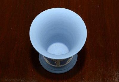 ◇ウェッジウッド/WEDGWOOD ジャスパー/Jasper ペールブルー/Pale Blue ギリシャ神話 フラワーベース(花瓶)の写真No.4