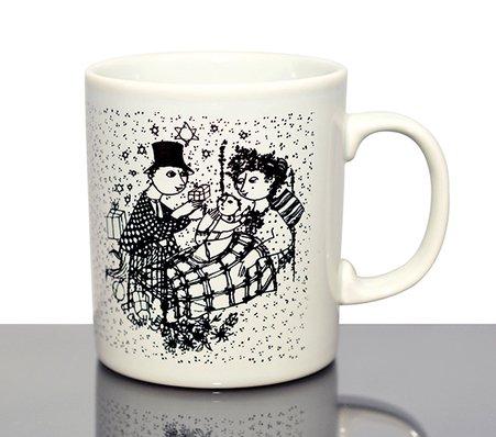 【今だけ価格】ニモーレ/NYMOLLE ビョルン・ヴィンブラッド/Bjorn Wiinblad マンスリーマグカップ 12月(ブラック/黒)の写真