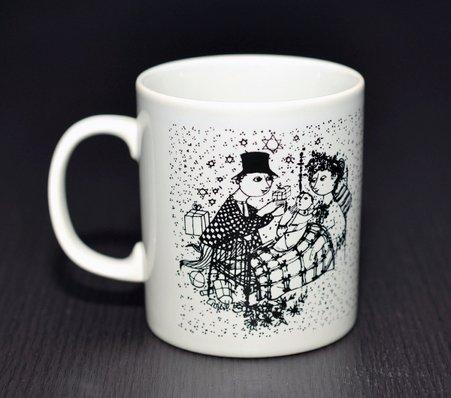 【今だけ価格】ニモーレ/NYMOLLE ビョルン・ヴィンブラッド/Bjorn Wiinblad マンスリーマグカップ 12月(ブラック/黒)の写真No.2