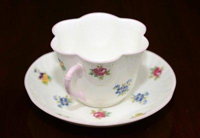 ◇クラウンスタフォードシャー/Crown Staffordshire バラ・パンジー・勿忘草/Rose Pansy Forget-me-not コーヒーカップ&ソーサーの写真No.2